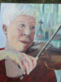 """Gwen the Violinist. 24x30""""."""