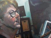 "Linda the Artist. 30x40""."